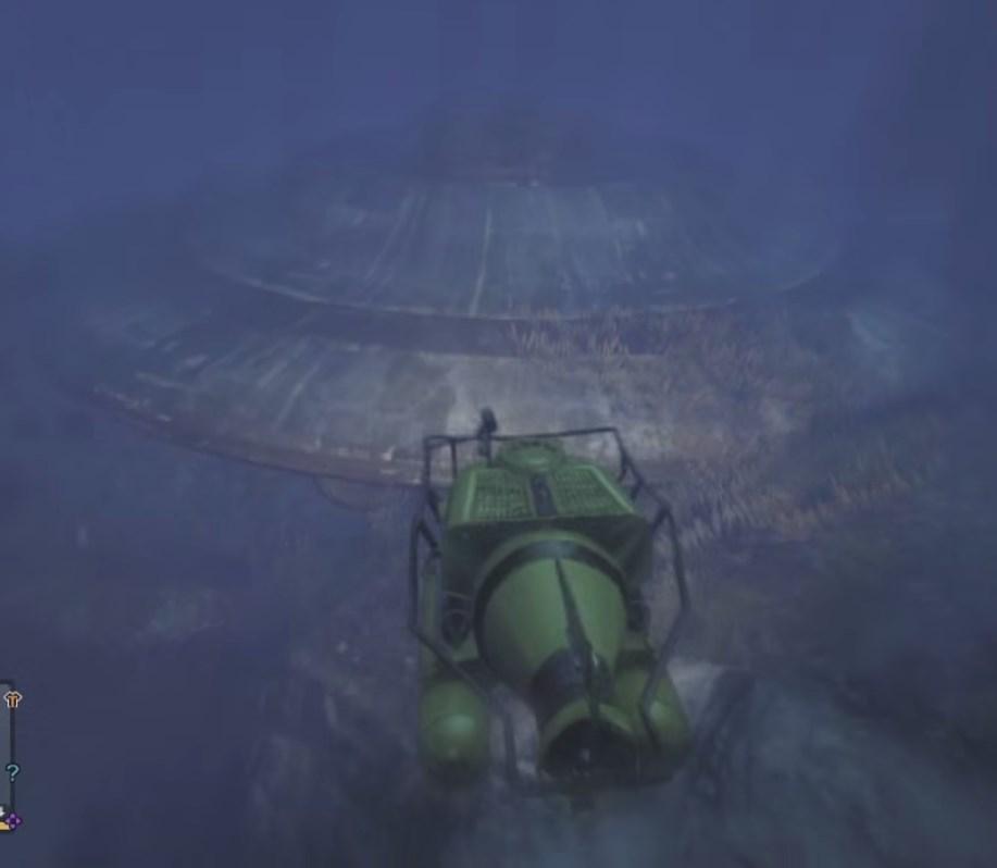 Затонувший инопланетный корабль
